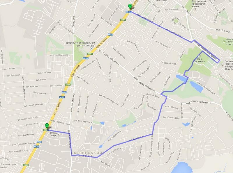 Схема маршрута: Браилки