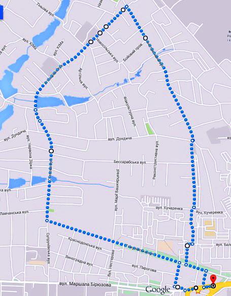 Схема маршрута 17 августа (бег